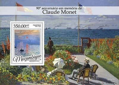 Z08 IMPERFORATED MOZ16307b MOZAMBIQUE 2016 Claude Monet MNH