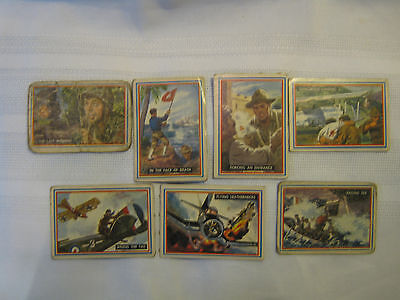 Seven Topps Fighting Marines Cards #'s 49,50,51,52,53,54,55