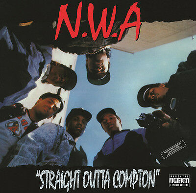 """N.W.A """"STRAIGHT OUTTA COMPTON"""" LP RUTHLESS RECORDS Vinyl,original release 1988"""