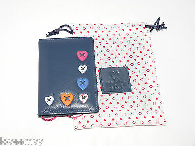 Mala Leather Travel Card Oyster Holder ID Holder bus Pass  Lucy 58330ID navy