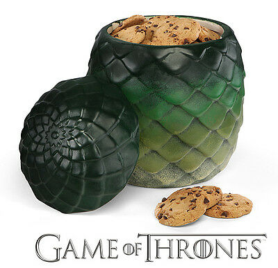 Game Of Thrones GoT Dragon Egg Canister Cookie Jar Kitchen Storage Ceramic - New