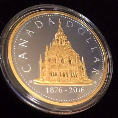 2016 Library of Parliament Renewed Big Dollar Coin # 2 Pure .2 oz .9999 Silver