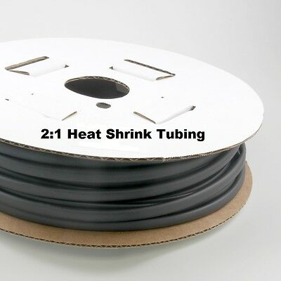 2:1 Heat shrink Tubing 3/8 100FT Black