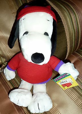 "Santa Snoopy Soft Plush Stuffed Animal, 17"", Peanuts Gang, With Tags"