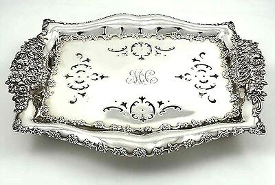 Lovely Floral TIFFANY Sterling Asparagus Tray with Liner