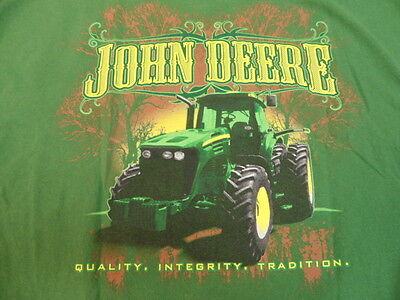 Green John Deere T-Shirt large Quality Integrity Tradition