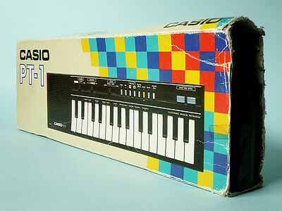 Vintage Boxed Working Casio Pt-1 Keyboard Synthetiser Electronic Music 1980's