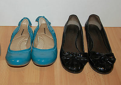 Ladies shoes faux patent leather flats lot size 6.5-7 M W preowned