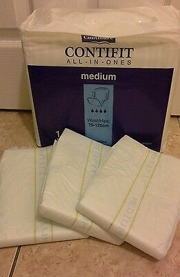 3 x Contifit adult nappies with plastic backing in Medium super AB/DL Aware blue