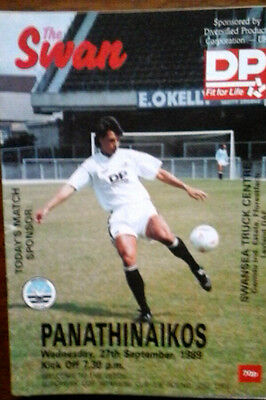 Swansea V Panathinaikos 27/9/1989 European Cup Winners Cup