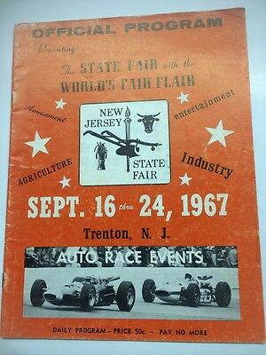 Vintage 1967 New Jersey State Fair Park Speedway Program- Unser- Andretti More