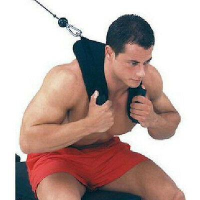 Power AB Crunch Harness Gym Cable Machine Attachment Heavy Duty Training