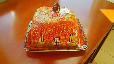 1950's Butterdish with windmill pattern