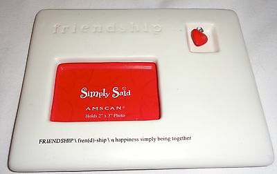 """Friendship picture frame holds 2"""" x 3"""" picture"""