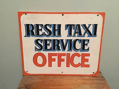Vintage Wood Taxi Office Trade Sign