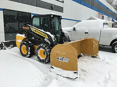 New Holland L220 Skid Steer Loader with bucket attachment