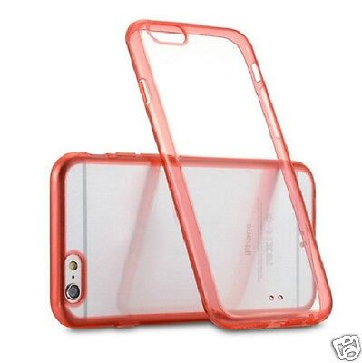 iPhone 6 Plus Soft Clear Cherry Red Silicone Gel Case - Ex Display Z-TECH