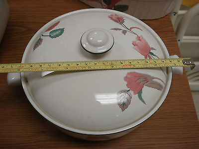"""vintage porcelain MIKASA SILK FLOWERS 7-1/2"""" Round Serving Dish with Lid covered"""