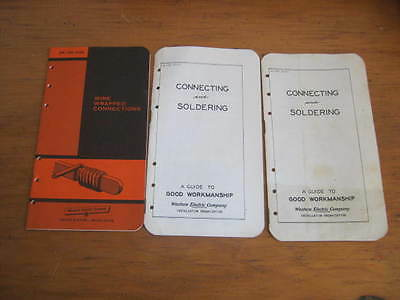 3 Vintage Booklets, 1951 Western Electric Co Connecting & Soldering Wire Wrapped
