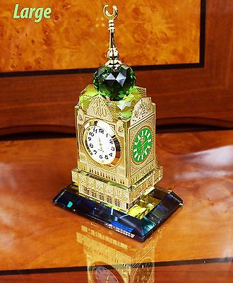 Crystal Cut Mecca Makkah Clock Tower Allah Mosque Ramadan Islamic Gift Box