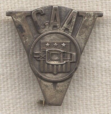 Great WWII Civil Aeronautics Administration (CAA) V for Victory Pin by A.E. Co.