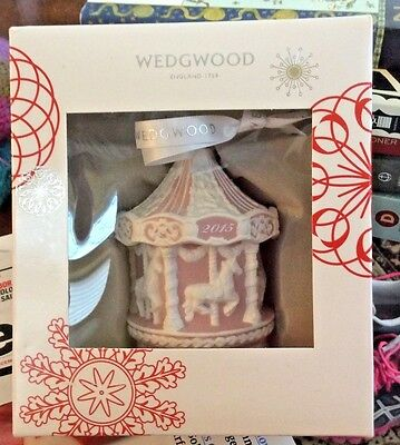NEW Wedgwood Baby's First Christmas Ornament 2015 Pink NIB