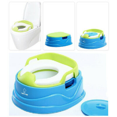 Baby Toddler Potty Training Kids Travel Toilet Seats Stepstool 3in1 - Seat Blue