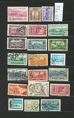 Stamps Lot Syria  Used  (L13058)