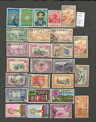 Stamps Lot Ethiopia  Used  (L13105)