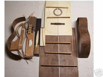 Classical Guitar Custom Diy Kit All Solid Wood Spruce Top+Indian Rosewood Body