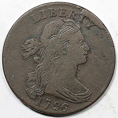 1796 S-110 R-3 Rev of '94 Draped Bust Large Cent Coin 1c