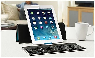 Brand New Logitech Wireless Bluetooth Keyboard And Stand For Ipad ~ Mini 2 3 Gen