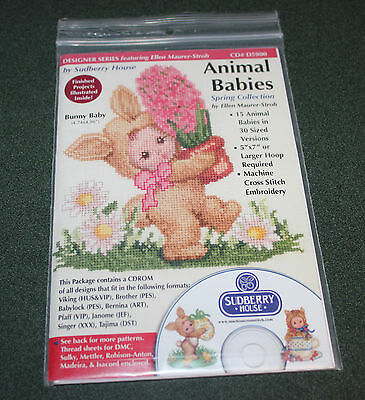 Sudberry House  Animal Babies  Machine Cross Stitch Embroidery CD# D5900