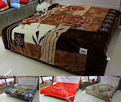 New Heavy Ultra Soft Thick and Warm 2Ply Bed Blanket Double Sided Double King