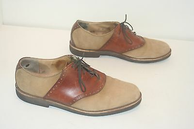 Cole Haan Mens Size 10 D Tan Suede Leather Oxford Shoes