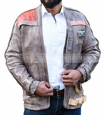 Finn John Boyega Poe Dameron Star Wars Leather Jacket (All Sizes Available)
