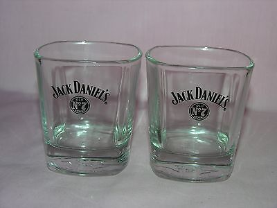 Jack Daniels Old No. 7 Low Ball Whiskey Glass Set Of 2 Stamp At The Bottom