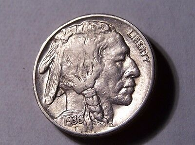 1936-S Buffalo Nickel Beautiful Detailed Au Coin! #20118