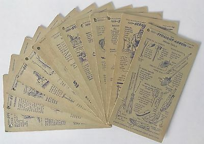NABISCO INJUN-UITY Cards Lot of 13 Diff. Cards,1949 Book 1