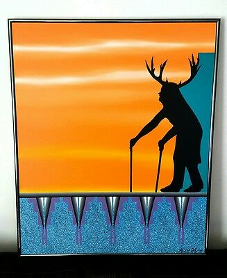 """Painting Large/Native American/Acrylic On Canvas/Original Mark A. Ortiz/36""""x 30"""""""