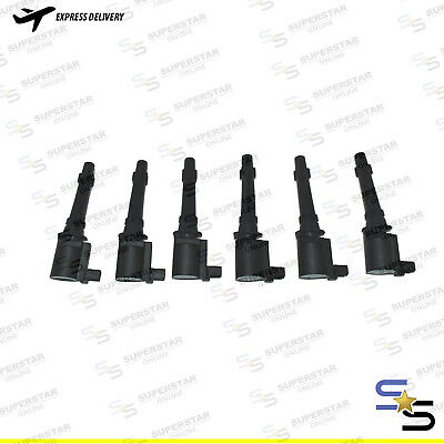 6 X Ignition Coils Pack For Ford Ba Bf Fg Falcon Fairlane Fairmont Xr6 Territory