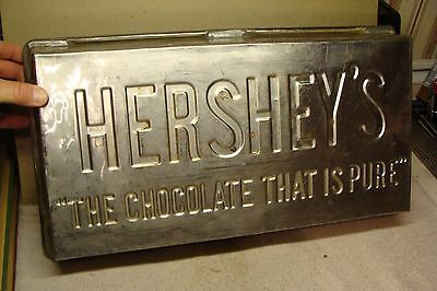 OLD HEAVY FACTORY Hershey's Chocolate 10 lb. INDUSTRIAL SIZE Stainless Steel PAN