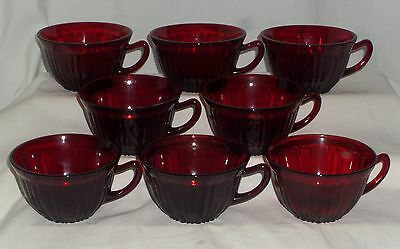 8 Hocking OLD CAFE RED *CUPS*ONLY**