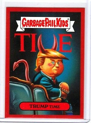"""2016 Garbage Pail Kids Disg-Race """"trump Time"""" #102 Limited Edition"""