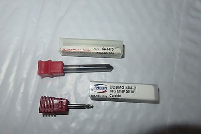 Lot of 2 Carbide Cutting Tools 1 Melin End Mill 1 Internal Chamfer Tool