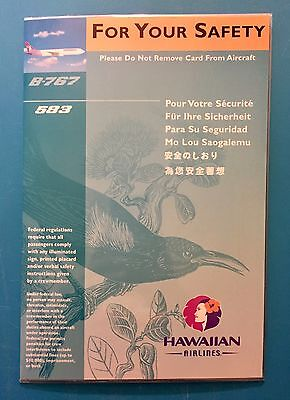 Hawaiian Airlines Safety Card--767