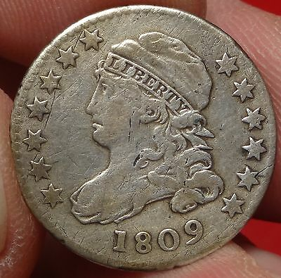 1809 Capped Bust Dime Very Fine Tough Date 10c