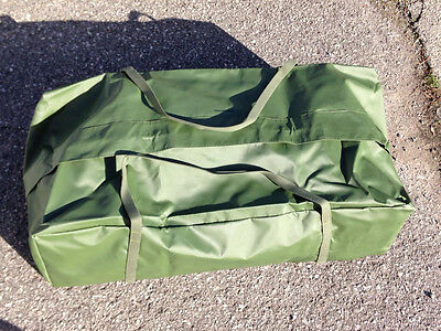 "Canadian Forces US Army GI Duffel Bag Vinyl OD NEW Huge 40""x20x12""  Wather Proof"
