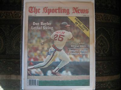 Aug 4 1979 The Sporting News Newspaper Don Baylor Autographed Angels