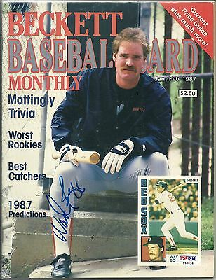 Wade Boggs signed PSA/DNA cert. 1987 Beckett Monthly Red Sox